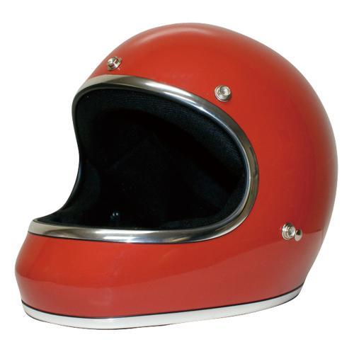送料無料 レトロ フルフェイス ヘルメット【DAMMTRAX[ダムトラックス]】 アキラ レッド 赤 メンズ Mサイズ(57cm~58cm) バイク用 ヘルメット