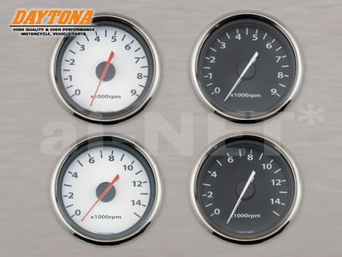 【送料無料】【DAYTONA[デイトナ]】【TW225】 タコメーター 電気式 ホワイトパネル/ブラックパネル 9,000rpm/15,000rpm