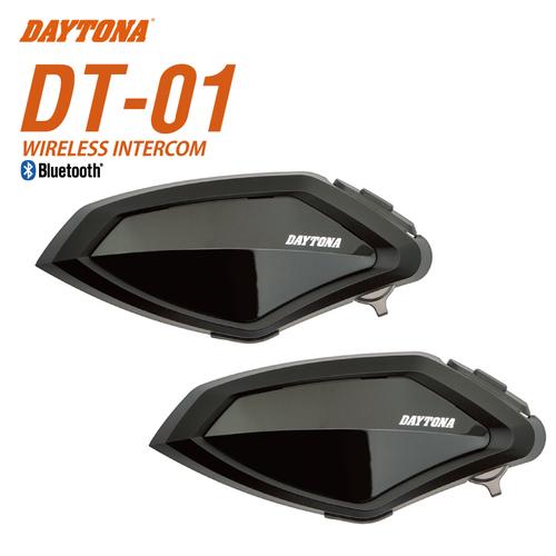 送料無料 デイトナ DT-01 インカム 2個セット 98914 バイク用 Bluetooth ヘルメット装着 通信機器 ワイヤレスインターコム BLUETOOTH INTERCOM DT-O1 ディーティーオーワン