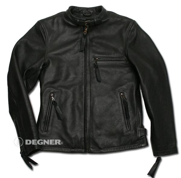 【送料無料】【DEGNER[デグナー]】 レザー ジャケット 7WJ-12A ブラック/2XLサイズ