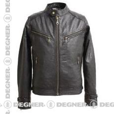 【送料無料】【DEGNER[デグナー]】 メンズ レザー ジャケット 8SJ-1 ブラック/Lサイズ