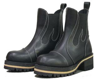 【送料無料】【DEGNER[デグナー]】 レザー サイドゴア ブーツ BOM-1 25.5cm