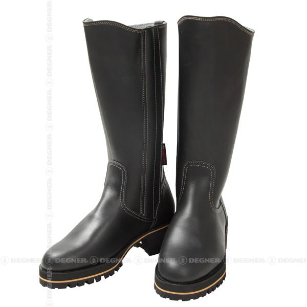 【送料無料】【DEGNER[デグナー]】 レザー ポリス ブーツ BOM-3 ブラック/XLサイズ