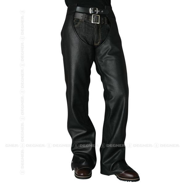 【送料無料】【DEGNER[デグナー]】 レザー チャップス パンツ用 CH-2A Lサイズ