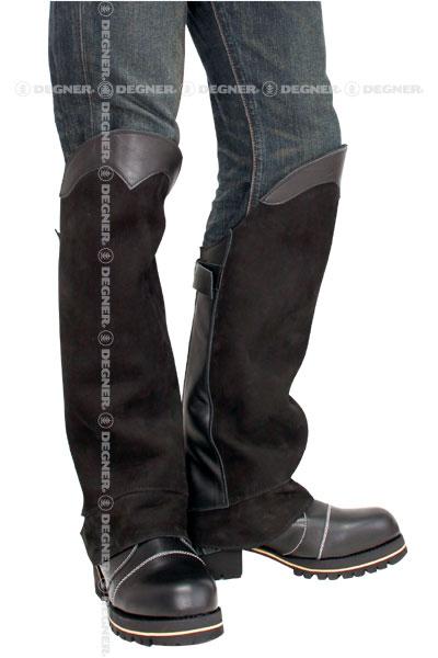 【送料無料】【DEGNER[デグナー]】 レザー ブーツ チャップス DBC-07A ブラック/XLサイズ