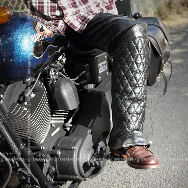 【送料無料】【DEGNER[デグナー]】 キルティング ブーツ チャップス DBC-08 ブラック/XLサイズ