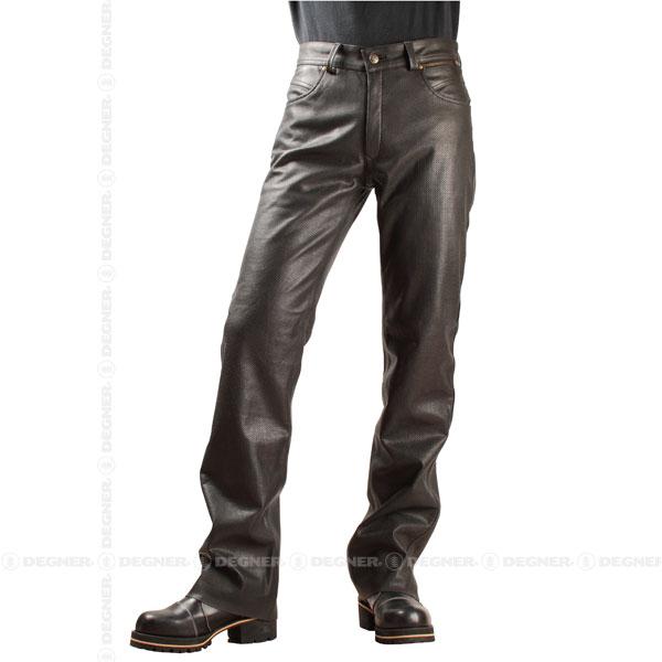 【送料無料】【DEGNER[デグナー]】 メッシュ レザー パンツ DP-20P Mサイズ