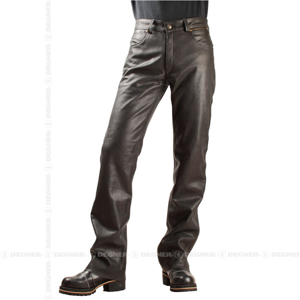 【送料無料】【DEGNER[デグナー]】 メッシュ レザー パンツ DP-20P 2XLサイズ