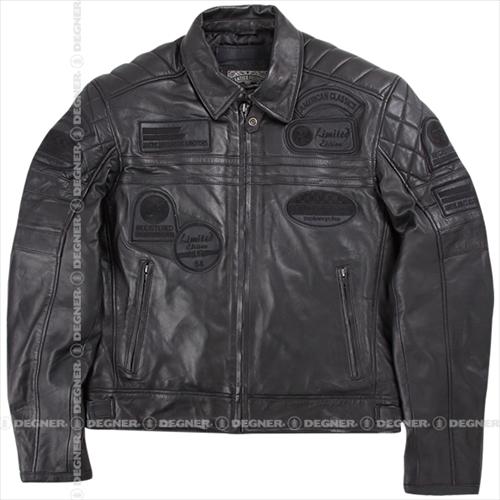 【送料無料】 【DEGNER】 デグナー 14WJ-3C ヴィンテージシープレザージャケット ブラック サイズS