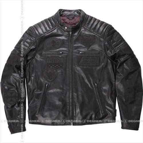 【送料無料】 【DEGNER】 デグナー 15WJ-2A ヴィンテージ レザージャケット ブラック サイズL