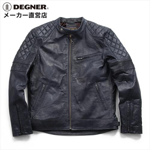【送料無料】 【DEGNER】 デグナー 16WJ-16 シープレザージャケット ダークネイビー サイズXL