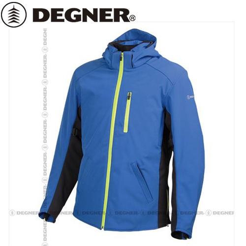 【送料無料】【DEGNER】 デグナー 17WJ-11 フード付 ソフトシェルジャケット ブルー サイズS