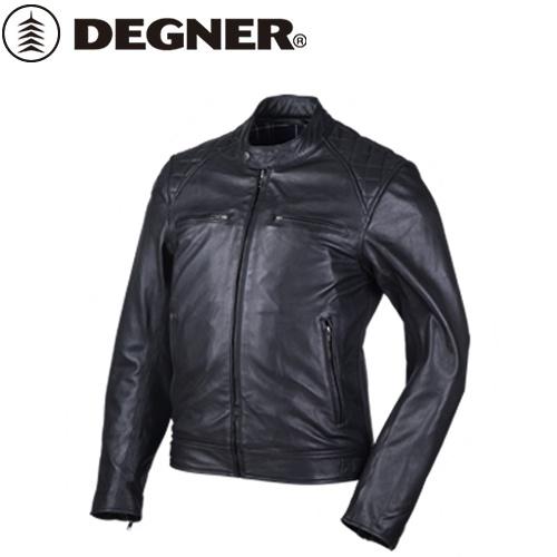 送料無料 【DEGNER】 デグナー 18SJ-6 ゴートレザージャケット ブラック サイズL