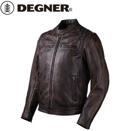送料無料 【DEGNER】 デグナー 18SJ-6 ゴートレザージャケット ブラウン サイズL