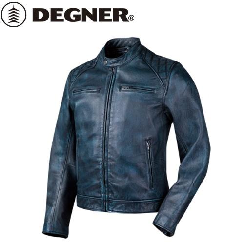 送料無料 【DEGNER】 デグナー 18SJ-6 ゴートレザージャケット ネイビー サイズL