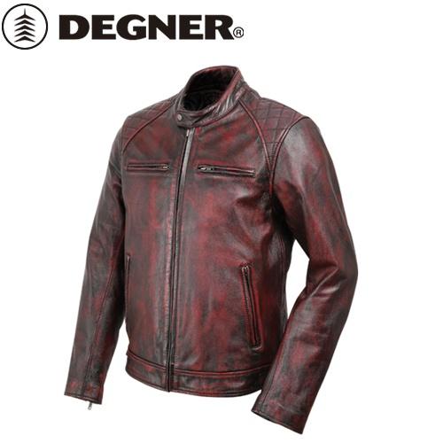 送料無料 【DEGNER】 デグナー 18SJ-6 ゴートレザージャケット ワイン サイズ2XL