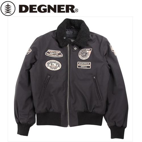 【送料無料】【DEGNER】 デグナー 18WJ-8 ソフトシェルフライトジャケット 18WJ-8 ブラック サイズM