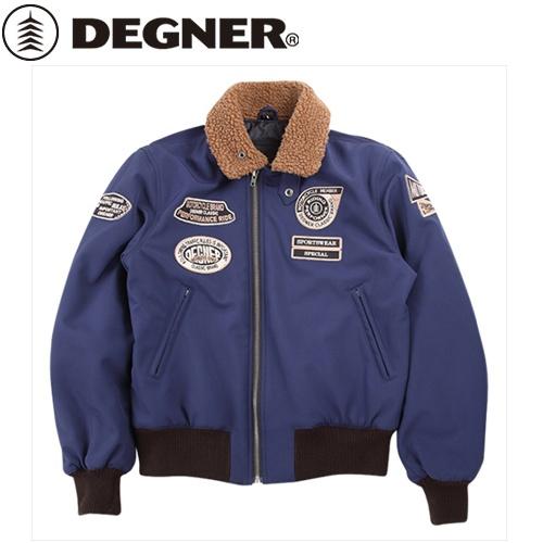【送料無料】【DEGNER】 デグナー 18WJ-8 ソフトシェルフライトジャケット 18WJ-8 ネイビー サイズL