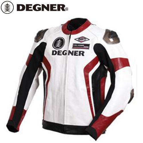 【送料無料】 【DEGNER】 デグナー 19WJ-19 レザーレーシングジャケット ホワイトレッド サイズM