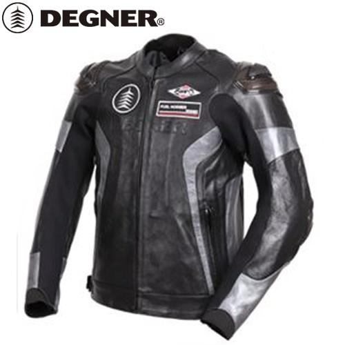 【送料無料】 【DEGNER】 デグナー 19WJ-19 レザーレーシングジャケット ブラックガンメタ サイズXL