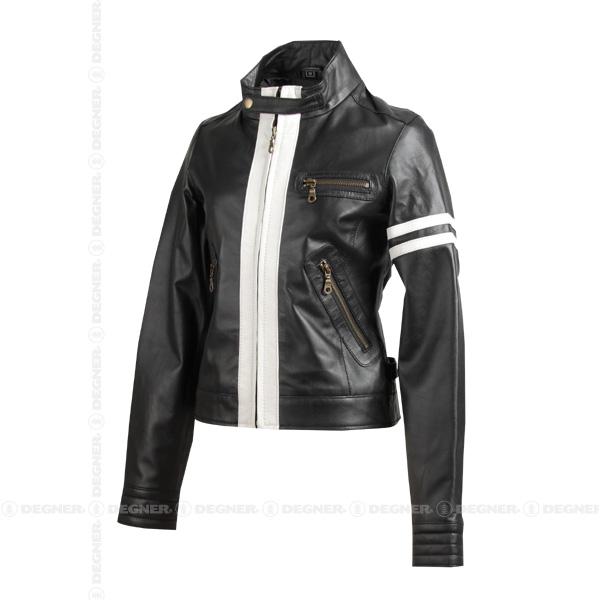 【送料無料】【DEGNER[デグナー]】 レディース レザー ジャケット FR11SJ-5 ブラック/Mサイズ キャッシュレス5%還元