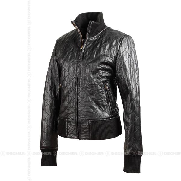 【送料無料】【DEGNER[デグナー]】 レディース シープ ジャケット FR8WJ-4 ブラック/Mサイズ