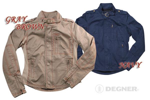 【送料無料】【DEGNER[デグナー]】 レディース コットン ジャケット FR9SNJ-3 グリーンブラウン/Mサイズ