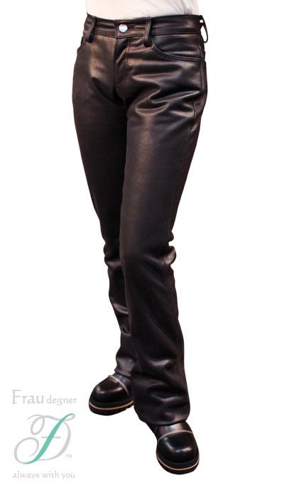 【送料無料】【DEGNER[デグナー]】 レディース レザー パンツ ブーツカット FRP-11A 25サイズ
