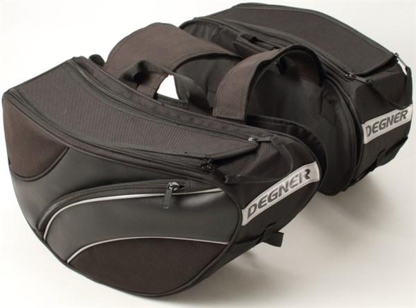 【送料無料】【DEGNER[デグナー]】 スポーツ ダブル バッグ NB-102 ブラック【ツーリングバッグ サイドバッグ テールバッグ】 キャッシュレス5%還元