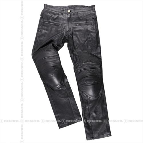 【送料無料】 【DEGNER】 デグナー DP-28 メンズ カップ付 レザーパンツ ブラック サイズS 牛革