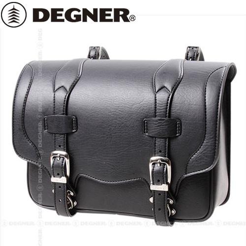 送料無料 【DEGNER】 デグナー DSB-1 シンセティックレザーサドルバッグ ブラック 9L