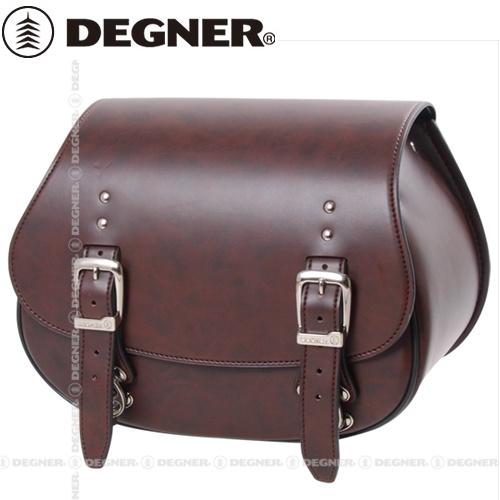 送料無料 【DEGNER】 デグナー DSB-4 シンセティックレザー サドルバッグ ブラウン 9L