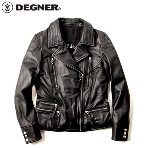 【送料無料】 【DEGNER】 デグナー FR16SJ-4 レディースレザージャケット ブラック サイズM