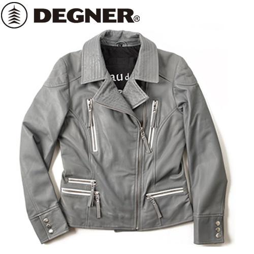 【送料無料】 【DEGNER】 デグナー FR16SJ-4 レディースレザージャケット グレー サイズM
