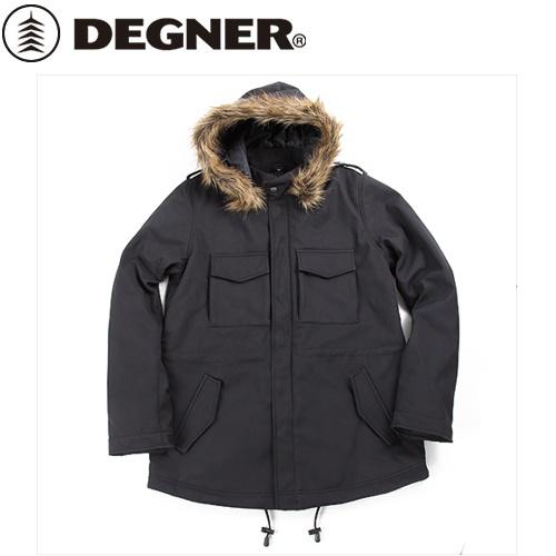 【送料無料】 【DEGNER】 デグナー FR18WJ-10 ソフトシェルモッズコート レディース ブラック サイズL
