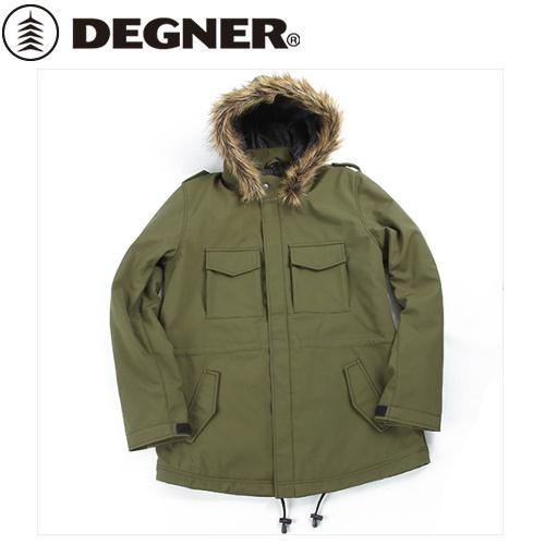 【送料無料】 【DEGNER】 デグナー FR18WJ-10 ソフトシェルモッズコート レディース カーキ サイズL
