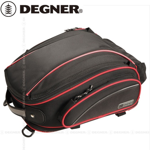 送料無料 【DEGNER】 デグナー NB-119 アジャスターシートバッグ レッドパイピング 9.5~16L