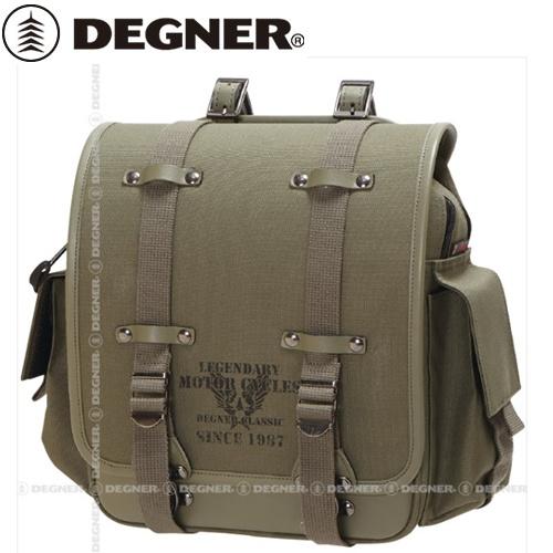 送料無料 【DEGNER】 デグナー NB-131 ミリタリーテイストナイロンサドルバッグ カーキ 8L