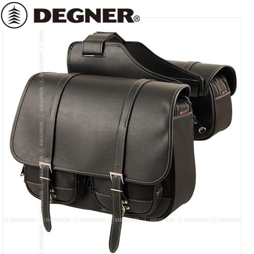 【DEGNER】 デグナー NB-43B 右出マフラー対応ナイロンダブルサドルバッグ 20Lx12L