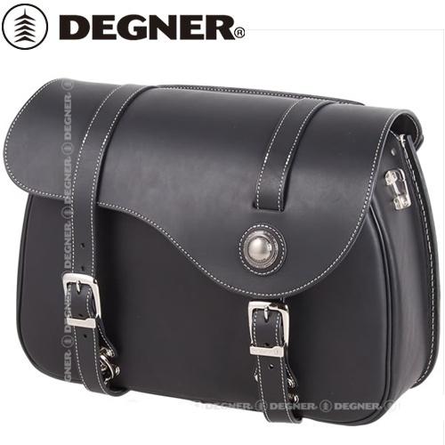 【DEGNER】 デグナー PRSB-9B レザーサドルバッグ ブラック 13L