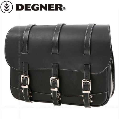 【送料無料】 【DEGNER】 デグナー SB-18 レザーサドルバッグ ブラック