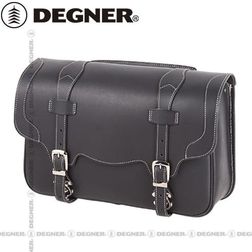 【送料無料】 【DEGNER】 デグナー SB-22レザーサドルバッグ レトロ調 ブラック