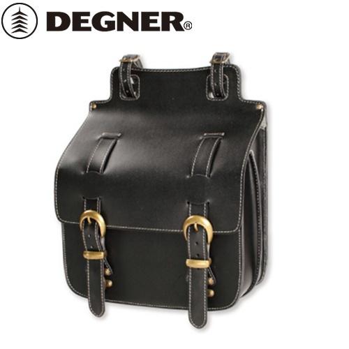 【DEGNER】 デグナー SB-35IN レザーサドルバッグ ブラック 11L