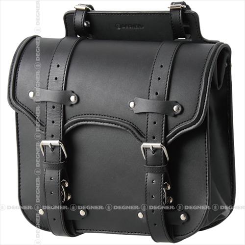 【送料無料】 【DEGNER】 デグナー SB-55 レザーサドルバッグ ブラック 12.5L 牛革