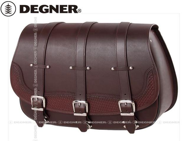 【送料無料】 【DEGNER】 デグナー SB-73 カービングレザーサドルバッグ ブラウン 20L