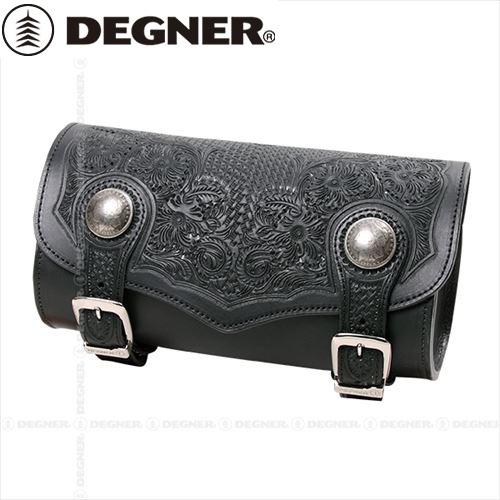 【送料無料】 【DEGNER】 デグナー TB-5 カービングレザーツールバッグ ブラック