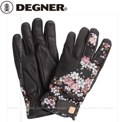 【DEGNER】 デグナー TG-25K 花山ツーリンググローブ 京桜 ブラック サイズL