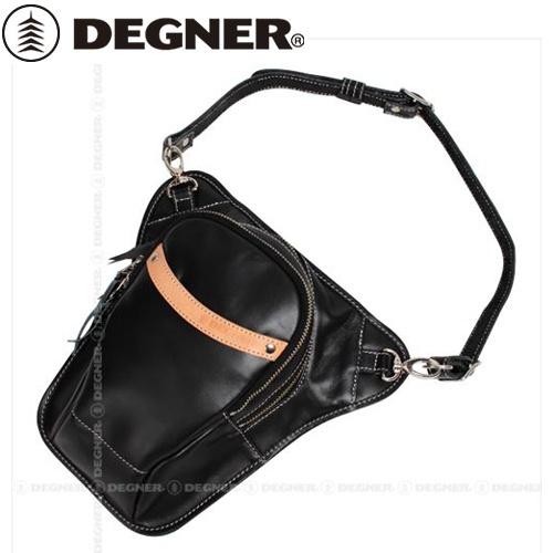 【送料無料】【DEGNER】 デグナー W-39 レザーホルスターバッグ ブラック