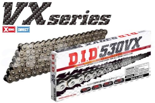 DID 530VX-082L FJ【シルバー】【4525516377065】【VXシリーズ】【530-82L】ダイドーチェーン
