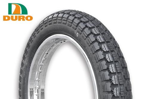 ダンロップOEM W650/1999~用 フロントタイヤ DURO デューロ :チューブタイヤ 4.00-19 400-19 HF308
